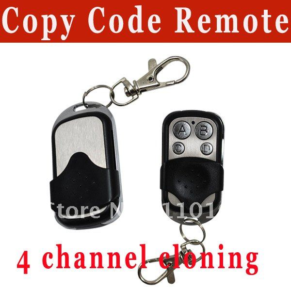 Top selling!! 4 channel universal remote control duplicator Copy Code Remote 433 mhz learning garage door opener free shipping(China (Mainland))