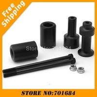 Hot Sale New 2 x Carbon Black Spike Frame Sliders for 03-06 Kawasaki Z1000 Free Shipping [P395]