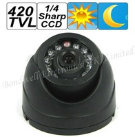 1/4 Shap CCD 420TV Line Dome Camera with Night Vision, dome camera with 10M IR distance
