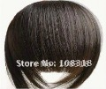 Free shipping-Hot sale fashion 100% Real human hair bangs/fringes,Both sides long hair fringes,hair extension,20g Ordinary style