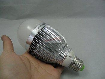 Hot sale promotion!! 6pcs/lot Free Shipping  LED high power Globe Lamp 9*1W bulb smooth light, E27/GU10/E14/GU5.3/B22