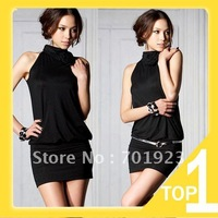 Одежда и Аксессуары Holiday Sale 2013 Hot selling Sexy Black Lace Mini Clubbing Cocktail Party Dress Y1010