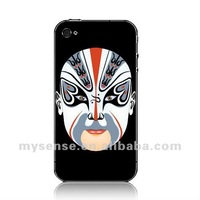 Mysense OEM PC case for iphone 4 4s Beijing Opera Facial Masks 10 wholesale and retail+OEM+fast shipping