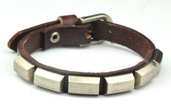 (Min order $10USD) Cool Rock Men Woman Genuine Leather Bracelet Bracelets Free Shipping