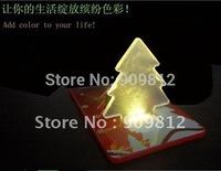 Free Shipping LED Christmas tree card light, Thin card wallets Night lights 25g 200pcs/lot