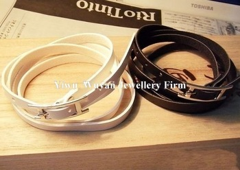 Min.order is $15 (mix order)Fashion new arrivals jewelry,fashion artificial leather belt wrap bracelets Hot Sell