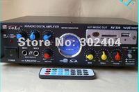 220V/12V HIFI power Amplifier USB/SD/DVD/FM/MP3 digital player with remote control