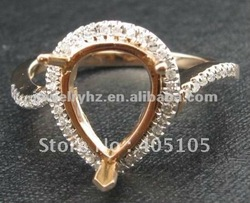 8x11mm Pear Natural Diamond 14ct Gold Diamond Jewellery, Fashion, Custom(China (Mainland))