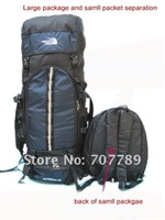 travel duffle hiking camping 70+10L backpack bag mountaineeving sport backpack bag free shipping black blue red orange