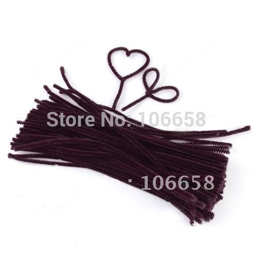 """Free Shipping 12"""" x 6mm 500pcs Chenille Stems Pipe Cleaners Craft DIY Brown(China (Mainland))"""