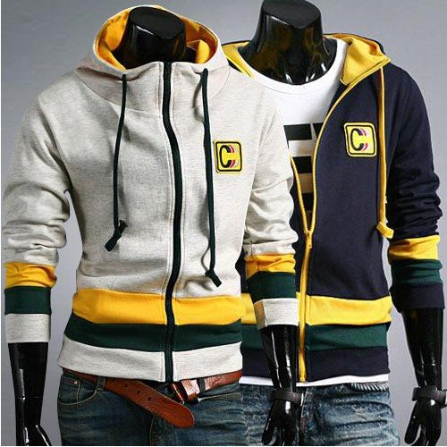 Mens Hoodies Jackets High Collar Jacket Fashion Casual Designer Men Jacket MS072 - Polling Of Life Style Comp Dec 2012