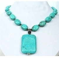 Beautiful tibet turquoise pendant necklace