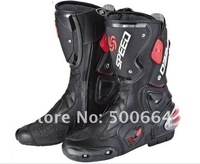 Free shipping  new Speed Boots,Motorcycle Boots Pro Biker Boots Motocross Racing Boots  Cycling Boots Leather Boots