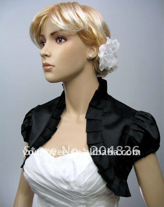 3 4 long sleeve dream black lace wedding dress jackets 2011