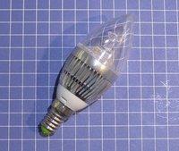 Freeshipping 10pcs/lot Dimmable 110V 230V 450LM  3x2W 6W white E14 6W led lamp