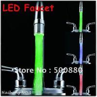 NO Battery Water Faucet Glow 3-LED Temperature Sensor