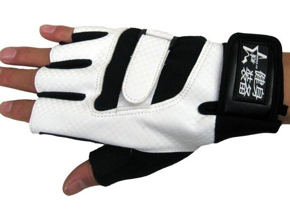 Mens professional Bicycle Ridding Mitten Accessary White Leather Gloves(China (Mainland))