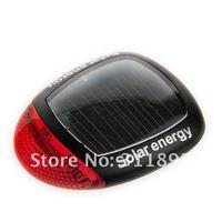Solar LED Bicycle Taillight, Rear Light, Bike Warning Lights, Tail lamp EMS Free Shipping 40pcs/lot