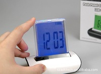 80 pieces/ctn Desk Led Night Light  Color Change  alarm clock timer thermometer permanent calender Clock 3*AAA not included