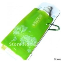 100pcs/lot 100% guaranteed Newest foldable water bottle 480ml