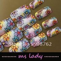 Fashion false nails nail art for girl fashion nail tips 2012 free shipping HK airmail