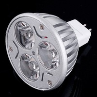 Free shipping   10pcs 3W MR16 3 LEDs Energy Save Lamp Light Bulb led spotlight