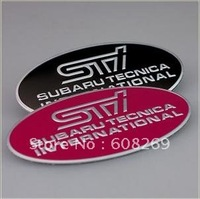 freeshipping! Wholesale Subaru Impreza legacy of refitted STI logo sticker metal net mark STI forest net label/The rear standard