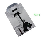 2012 gray men dress Cotton shirt slim long sleeve shirtFreeShipping size S-XXL