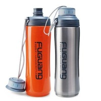 420ml double wall stainless steel vacuum water bottle,0.42L vacuum sports water bottle.Keep warm and cold,Double caps design.