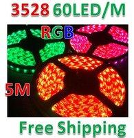 5M 300LED Strip Light 3528 SMD RGB Waterproof 12V + IR Remote Controller + Power