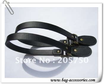 Black PU leather handles for purse, purse leather handles