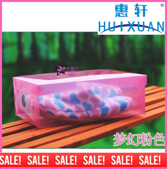 clear plastic PVC shoes storage box(China (Mainland))