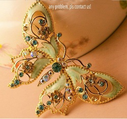 2012 hot selling butterfly brooch /brooch pins /breastpin mother's day gift ,free packing box(China (Mainland))