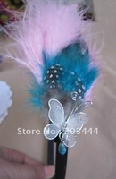 new arrival feather with butterfly hairband, free shipping,24pcs/lot
