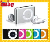 GOOD sell MP3 !!Free shipping 8 pcs /lot Mini Matel MP3 Player with Clip 8 color support Micro SD can up to 16GB