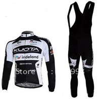 1PCS  High Quality Selling 2010 Kuota Autumn Cycling Jersey+Bib Pant Set/Bicycle Wear/Biking Jersey/Cycle Pant