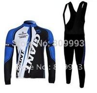 High Quality Best Selling 2011 Giant  Autumn Cycling Jersey+Bib Pant Set/Bicycle Wear/Biking Jersey/Cycle Pant