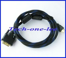 Gold 24 1 DVI D Male to Male HDMI Cable for HDTV HD 5FT 1 5M