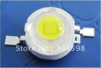 free shipping LED 1Watt white Super Bright High-power lamp beads Factory stock 100-110LM Nature color ,100pcs/lot