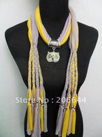 Fashion accessories pendant scarves womens necklace scarves novel cotton scarf mixed colors