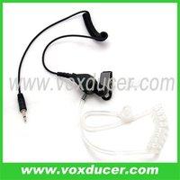 FBI style listen only 2.5mm jack acoustic tube earpieces