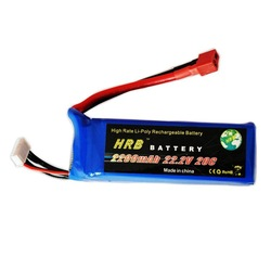 HRB,Brand rc Lipo Battery 22.2V 2200MAh 20C +free shipping(China (Mainland))