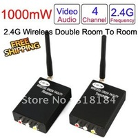 wireless transmitter and receiver wireless AV sender 2.4G 4CH 1000mW wireless device