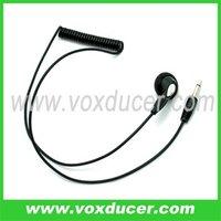 For shoulder mic and throat mic FBI listen only earphone