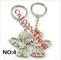 "Cute couple, key chain, ""20pcs/lot=10pair/Lot"". NO: 04"