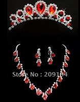 Free Shipping Hot Sale Wedding Jewelry Sets/Bridal Earring /Bride Necklace/Crown ,Wedding & Evening Dress Accessory  WZJ11