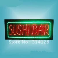 LED  SUSHI sign Number HSS0002 LED signs LED sign board free shipping
