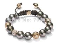 Shamballa jewelry Bracelet Wholesale, Shamballa Bracelet Micro Pave CZ Disco Ball Bead, free shipping, Shamballa jewelry CPX 61