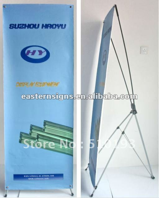 Fiber Glass and Iron Pole X Banner Stand Frame(China (Mainland))