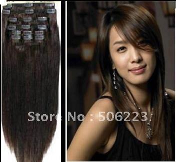Dark Brown Hair Extensions Clip In